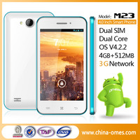 Top Sale 4'' MTK6572 WCDMA 3G WIFI Bar Designed Telefonos Cellulares