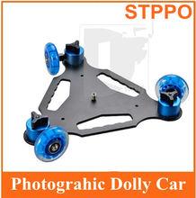 ruedas 3 de escritorio dslr cámara dolly dv de la pista de la pista deslizante
