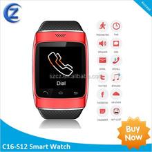 south america hot sale smart watch mobile phone for iPhone\/Samsung android smartphones