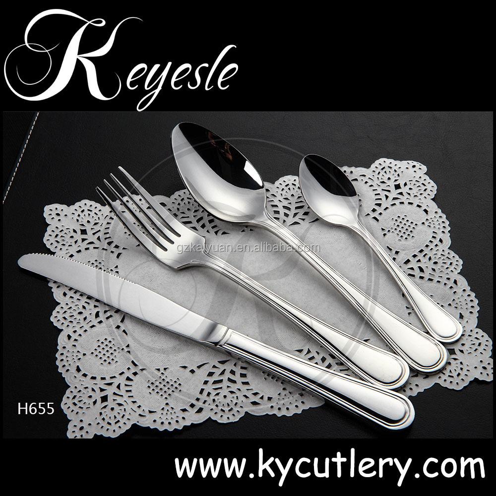 En acier inoxydable couverts, Cuillères et fourchettes, Couverts en acier inoxydable