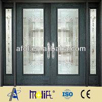 AFOL high quality double leaf steel door price low