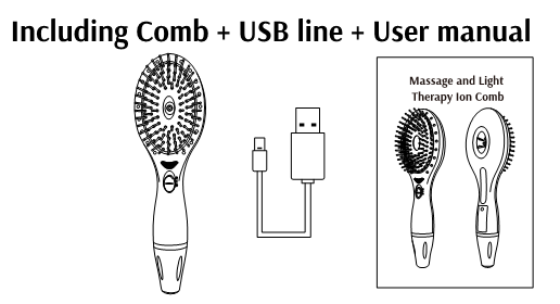 2016 New Arrival Ionic Light and Massage Therapy Hair Brush
