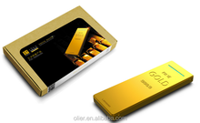 Promotional gift power bank /10000mah cell phone charger/ special design Gold powerbank with CE/FEE/ROHs certification