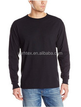 Wholesale Custom 70% Polyester 30% Cotton/65 Polyester 35 Cotton Blank Print Long Sleeve T Shirts