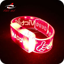 2014 led glow in the dark rubber band bracelets