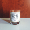Hot Baked Apple Pie Scented Soy Clear Decorative Candle