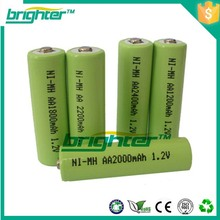 hot sale nimh 1.2 voltage aa rechargeable batteries