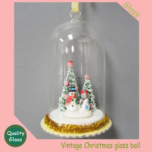 CHRISTMAS GOLD GIANT ROUND PLASTIC ORNAMENT