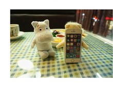 lovely plush bear cute 3D cell phone case For iphone 5,for iphone teddy bear case cover
