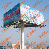 Building advertising billboard/ steel structure triple signage