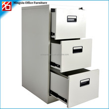 High quality steel filing cabinet with 3 drawer for office file, combination lock filing cabinet with slide for home office use
