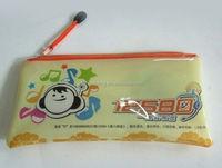 2015 cheap fez soft transparent pvc bag closure/ washing tools pvc drawstring bag/ wooden handle bags