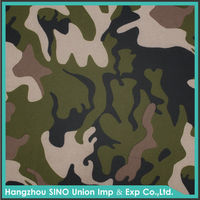 Fashion print factory breathable cloth camouflage 300d polyester twill fabric