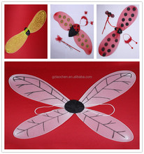 wholesale carnival ladybug bee wings cosplay dragonfly wings light up fairy wings