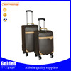 2016 Alibaba trendy top PU leather travel luggage trolley bag universal wheel luggage bag