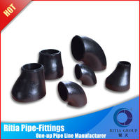 butt welded black carbon steel threaded pipe fittings dimensions
