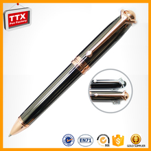 High-grade heavy metal roller pen promotional item fashion gift gel pen with pendant