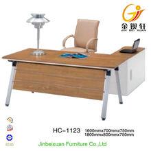 L-shape wood furniture antique wood office desk furniture