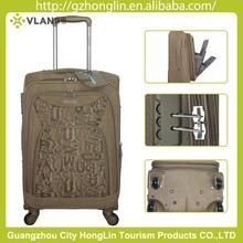 Trolley PU luggage case cute travel soft suitcase