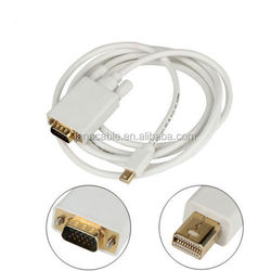 Wholesale white color mini display port to vga graphic card adapter cable for macbook