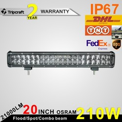 NEW PRODUCT! 20 inch 4D Osram 210W LED LIGHT BAR OFF ROAD FOR OFF ROAD UTE 12V 24V 4x4 4WD BOAT SUV TRUCK TRAILER MILITARY TRACT