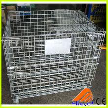 ce certificate wire mesh container stackable steel storage bins pallet stillage cage