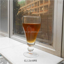 2015 hot sell 450ml footed pilsner beer glass