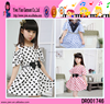 Summer Fashion Kids Boutique Clothes Wholesale High Quality Polka Dot Pattern Girls Frocks Design