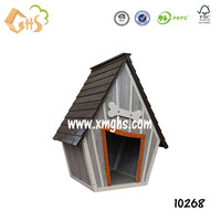 DUPLEX WOODEN DOG HOUSE OUTDOOR