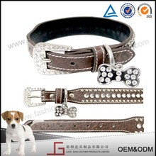 Luckgain high quality hot sale genuine dog collar leather