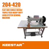 Keestar 204-420 flat bed lockstitch walking foot and needle feed used leather sewing machine for sale