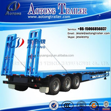 2015 new tri-axle low bed truck trailer dimensions 80 ton lowboy