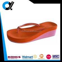 Best seller of aliexpress fashion women casual wedge two color eva flip flop