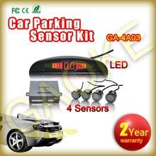 4 Sensors DC12V Buzzer Alar Digital LED Display Car Back-up Sensor System Car Parking Radar Car Reverse Radar