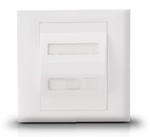 45 degree two port 86 type White Color 86 X 86mm network face plate outlet socket