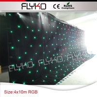 wholesale soft RGB 3in 1 led star curtain party night decoration
