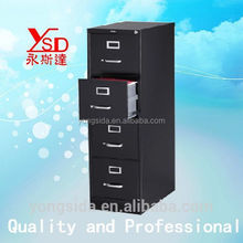 Convenient assembly glass door iron file cabinet for study room