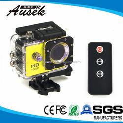 Full DH 1080P WiFi Action Camera 12MP 170Degree Helmet Sports Cam Waterproof MINI DV Car Camera Remote Control WIFI sj4000 H.264