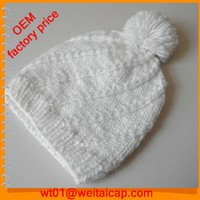 selling winter design your own logo beanie ladies knit hat