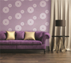 round flower background wallpaper living room wallpaper