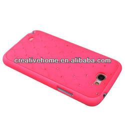 Luxury Bling Diamond Encrusted Plastic Case for Samsung Galaxy Note II / N7100