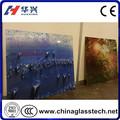 pared de cortina de color personalizado y manchado de arte de vidrio de cerámica con la tinta