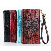2015 new fashion alligator wallet leather cover case for iphone 5/5s/5c