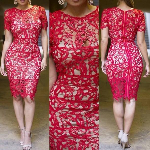 Wholesale Boho Crochet Lace Dress Women Plus Size S Xxl Cut Out