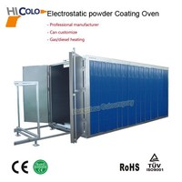 OEM Acceptable for Metal Workpieces Powder Coating Booth and Batch Curing Oven for Manual Powder Coating Line wtih CE