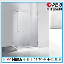 comfortable hinged 8mm Tempered Glass rectangular shower cubicle