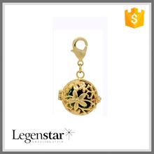 2015 New Design Gold Angel Baby Bell Pendant With Custom Shamball Inside