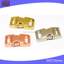 """Factory supply 3/8"""" bag buckle metal,side release buckle wholesale,curved buckle"""