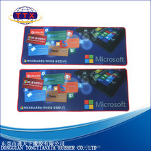 large size game rubber mouse pad with overlock edge