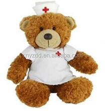 plush nurse teddy bear/handmade stuffed plush toy bear/doctor plush bear toy